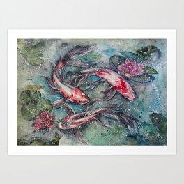 Harmony (Watercolor Painting) Art Print