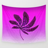 hot pink Wall Tapestries featuring HOT Pink by Cherie DeBevoise