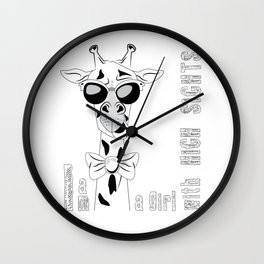 Funny Giraffe V1 Wall Clock