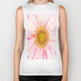 Pink flower with pink background - lovely girlish summer feeling Biker Tank