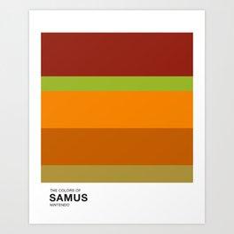 The Colors of Samus Art Print