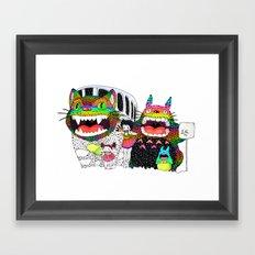 Totoro fan art (cat bus) by Luna Portnoi Framed Art Print