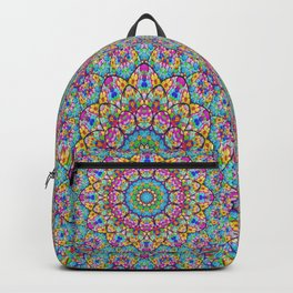 Colorful kaleidoscope flowers Backpack