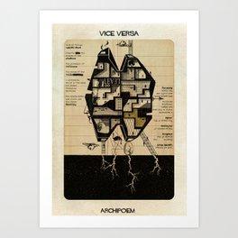 010_Vice versa_Archipoem-01 Art Print