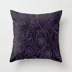 Purple ornaments Throw Pillow