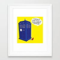 tardis Framed Art Prints featuring Tardis by Elizabeth A