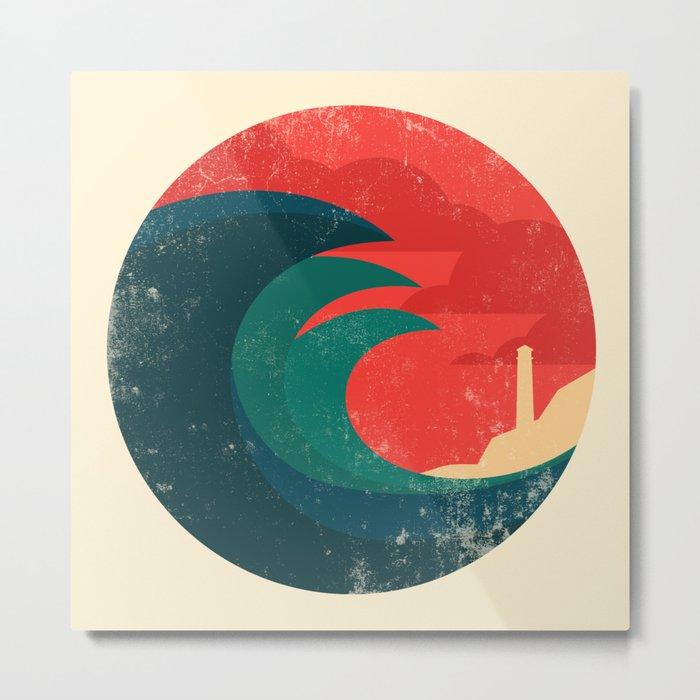 The wild ocean Metal Print