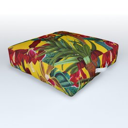 Vintage & Shabby Chic - Colorful Parrots tropical Jungle Pattern Outdoor Floor Cushion