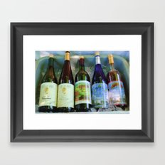 vino time Framed Art Print
