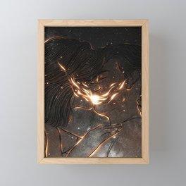 Fire kiss. Framed Mini Art Print