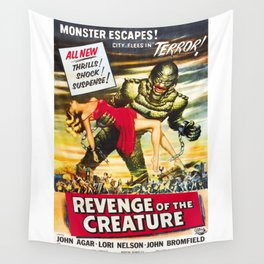 Revenge of the Creature, vintage horror movie poster Wall Tapestry