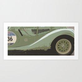 Mille Miglia No.136 Art Print