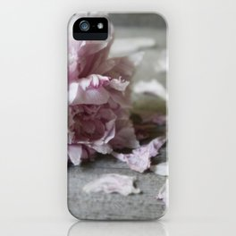 Peony Falling iPhone Case