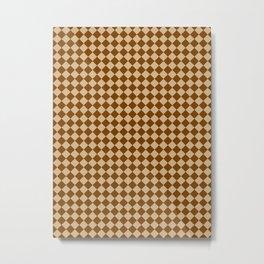 Tan Brown and Chocolate Brown Diamonds Metal Print