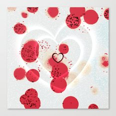 Scattered Hearts Canvas Print