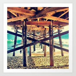Under the Pier- Square Art Print