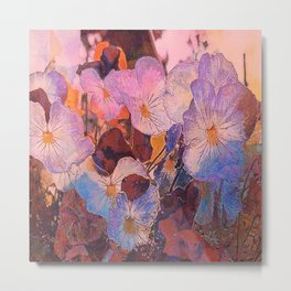 Pansies at Twilight Metal Print