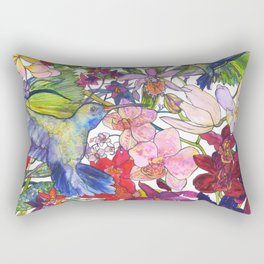 Hummingbirds Rectangular Pillow