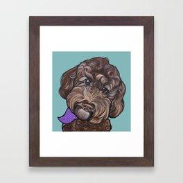Maddie the Doodle Framed Art Print