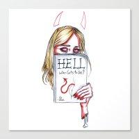 sky ferreira Canvas Prints featuring Sky Ferreira by Ash Tarek