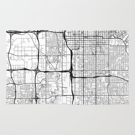 Salt Lake City Map White Rug