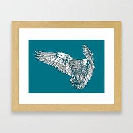Mechanical owl Framed Art Print