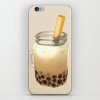 boba iPhone & iPod Skins featuring Boba by Cmdr Space Cat