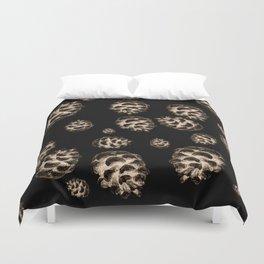 Conifer cone pattern - negative Duvet Cover