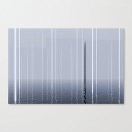 Narrow lights_blue Canvas Print
