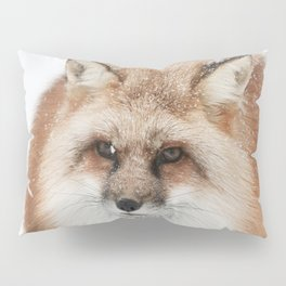 Red fox in the snow | Fox Photo | Wildlife Photography | Fine Art Photo Pillow Sham