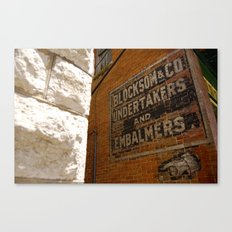 Undertakers and embalmers Canvas Print