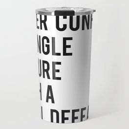 F Scott Fitzgerald - Never Confuse A Single Failure With A Final Defeat Print Travel Mug