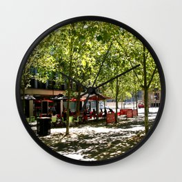 Street Cafes Wall Clock