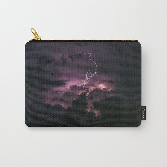 Purple lightning #stars Carry-All Pouch