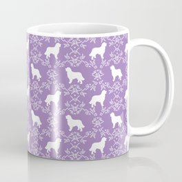 Bernese Mountain Dog florals dog pattern minimal cute gifts for dog lover silhouette Coffee Mug