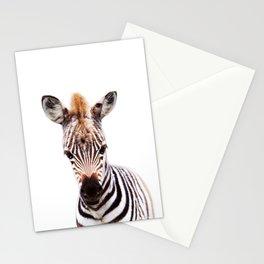 Baby Zebra, Baby Animals Art Prints by Synplus Stationery Cards