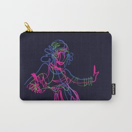 Tribal fusion dance color power. Abstract. Neon glowing  gesture sketch Carry-All Pouch
