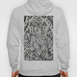 Girlll, AFRiCA! coloring book page/ black&white version Hoody