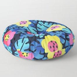 Watercolor tropical bloom Floor Pillow