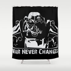 Fallout 3 War Never Changes Shower Curtain