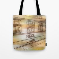 grace Tote Bags featuring Grace. by Heather Goodwin
