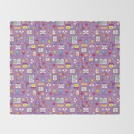 Proud To Be a Nurse Pattern / Purple Throw Blanket