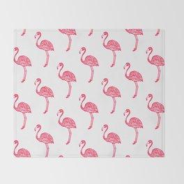 American Flamingo (pink) Throw Blanket