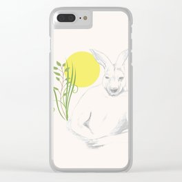 kangaroo Clear iPhone Case