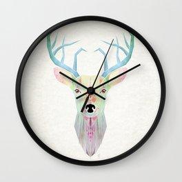 white deer Wall Clock