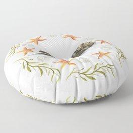 Sea Otter Mandala 1 - Watercolor Floor Pillow