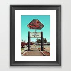 Roadside paradise Framed Art Print