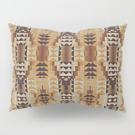 Orange Khaki Dark Brown Mosaic Pattern Pillow Sham