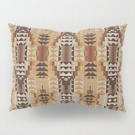 Orange Khaki Dark Brown Mosaic Pattern Pillow Sham