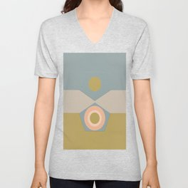 Abstract-geometric 01 Unisex V-Neck